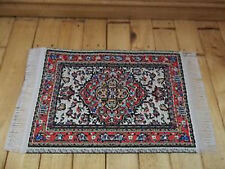 Dolls House Miniatures 1/12th D697D Maroon Turkish Rug 7 x 5 cms New