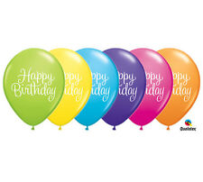 HAPPY BIRTHDAY BALLOONS LATEX HELIUM COLOR VARIETY 11 INCH - LOT OF 43