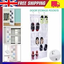 New 24 Pockets Over Door Hanging Bag Box Shoe Rack Hanger Storage Tidy Organizer