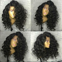 Real Indian Human Hair Lace Front Wig Full Lace Wigs Loose Body Wavy off Black s