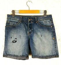 Hurley Womens Size 3 Juniors Distressed Denim Shorts Surfer Broken In Holes