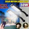 LED Lampione Stradale Luce Faretto Pannello Solare Sensore Telecomando