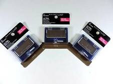 3x Maybelline Ultra-Brow Powder 20 Dark Brown Eyebrow Color Makeup 404 New