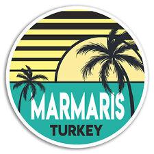 2 x 10cm Marmaris Turkey Vinyl Stickers - Travel Sticker Laptop Luggage #18577