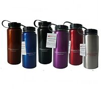 STAINLESS STEEL BOTTLE 1LT WIDE MOUTH - FOOD GRADE - 6 COLOUR CHOICES!!