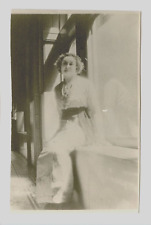 RPPC Minature Portrait of a Young Lady in the Sun. Azo 1904-1918