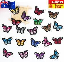 Butterfly Iron On Patch - Embroidered Badge Bugs Insect Butterflies Patches Kids