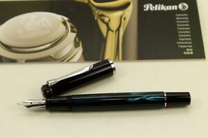 Pelikan Classic M205 Petrol-Marmoriert Special Edition Füller Fountain Pen Neu