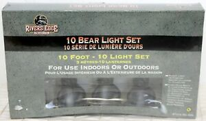 NIB River's Edge 10 Bear Party String Light Set 10 Foot Long Backyard BBQ 2004