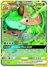 Pokemon - Venusaur & Snivy Tag Team Gx - 1/236 - Ultra Rare - Cosmic Ecl. - Nm/M