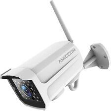 Amiccom Outdoor Security Camera, 1080P WiFi Camera Surveillance Cameras, IP