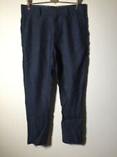 Industrie Mens Linen Navy Blue Chino Pants Size 32