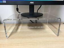 Perspex Acrylic TV Monitor Sanos Imac Shelf Riser Stand - 10mm Thick - Perspex