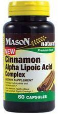 Mason Natural Cinnamon Alpha Lipoic Acid Complex 60 ea (Pack of 2)