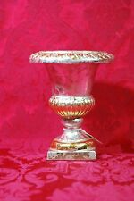 "Midwest of Cannon Falls Antique Gold Silver Finish Vase Urn New in Box 7"" 254189"