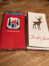 Carlton Christmas Cards Lot 28 Cards Total Tis The Season Glitter New