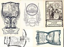 Willy EHRINGHAUSEN 1868-1933 5 exlibris German Jugendstil Art Nouveau Bookplate