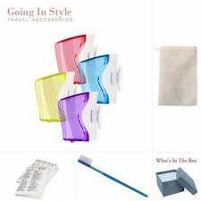 4 Flipper (2 packs) Toothbrush Covers w/ Travel Toothbrush Set | Going In Style