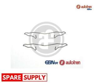 ACCESSORY KIT, DISC BRAKE PADS FOR DAEWOO OPEL AUTOFREN SEINSA D42393A