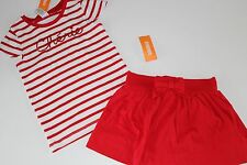 Gymboree Parisian Afternoon Girls Size 6 Skirt Cherie Top Red Striped Shirt NEW