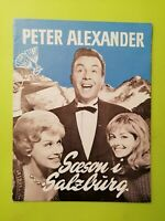 "Danish Film Program ""Saison in Salzburg"" Peter Alexander.Günther Philipp."