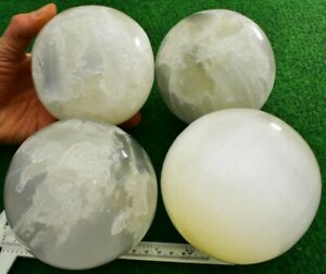 1 Large Selenite Crystal Sphere/Ball Divination Scrying Crystals UK BUY✔ 10-11cm