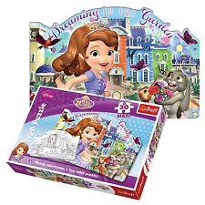 Trefl 30 Pièces Maxi Filles Princesse Sofia Double Face Colorer Puzzle neuf