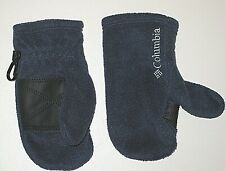 COLUMBIA NAVY BLUE FLEECE MITTS MITTENS GIRL'S BOY'S TODDLER ONE SIZE OS