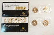 2010 US Mint First Spouse Bronze Medal Set of 4 W/COA in Envelope
