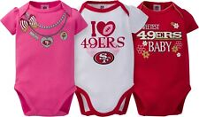 bc2b2d0db91 San Francisco 49ers NFL Baby Girl 3 Set Bodysuits