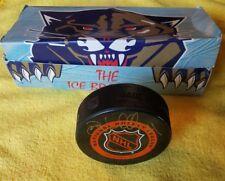 JOHN VANBIESBROUCK NHL FLORIDA PANTHERS SIGNED PUCK RARE ICE BREAKER BOX NO COA