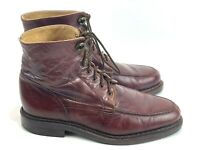 BACCO BUCCI BROWN LEATHER Tall Over The ANKLE BOOTS Mens Sz 8.5 Made In ITALY