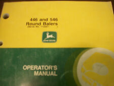 John Deere Tractor Operator'S Manual 446 And 546 Round Balers Issue A8