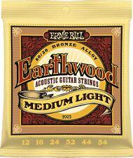 Ernie Ball 2003 Earthwood 80/20 Bronce Guitarra Acústica Cuerdas 12 - 54