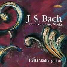 Bach - Complete Lute Works [Audio CD] Heiki Matlik, New Music