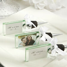 200 Photo Place Card Holder Wine Bottle Stopper Wedding Shower Party Favor Lot