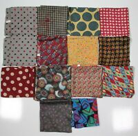 Carrot & Gibbs Lot of 14 Unique Silk Hand Rolled Pocket Squares