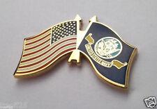 USA AMERICAN / US NAVY FLAG   Military Veteran Hat Pin P62497 EE Medium