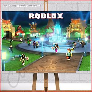 Roblox Meep City Framed Canvas Print Picture Poster 30x20 Kids Bedroom Wall Art