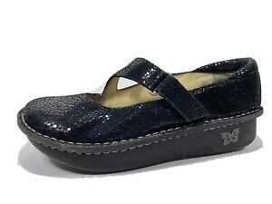 Alegria Dayna Black Leather Mary Janes 38