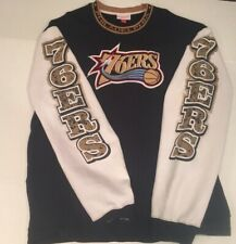 Vintage 2001 Philadelphia Sixers Mitchell And Ness Sweatshirt Pullover 5XL