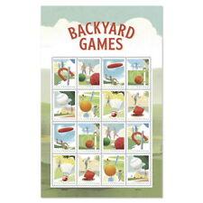 USPS New Backyard Games Pane of 16