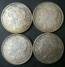 Lot of Four 1921 $1 Morgan Silver Dollars