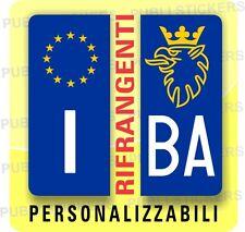 """ADESIVI BLU RIFRANGENTI PER TARGA AUTO EUROPEA CON """"GRIFONE SCANIA"""" E PROVINCIA"""