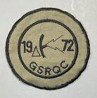1972 Army Ground Surveillance Radar Qualification Course Patch Cut Edges No Glow