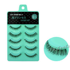 5Pairs Makeup Handmade PrettyNature Short Cross False Eyelashes Daily eye lashes