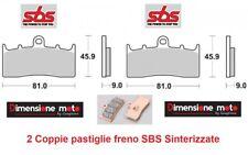 778HS - 2 Coppie Pastiglie Freno Anteriori SBS Sinter per BMW R 1150 R Rockster