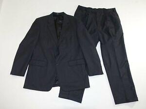 Jos. A. Bank Men's 2 Button Suit Size 44 Long 38 x 31 Charcoal Gray 100% Wool