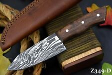 Custom Damascus Steel Chef Knife Handmade With Walnut Handle (Z349-D)