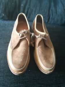 Ladies Barker Shoes Tan Suede And Leather Size 7 uk